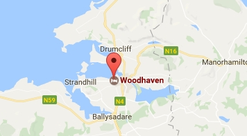Location of Woodhaven Sligo Ireland