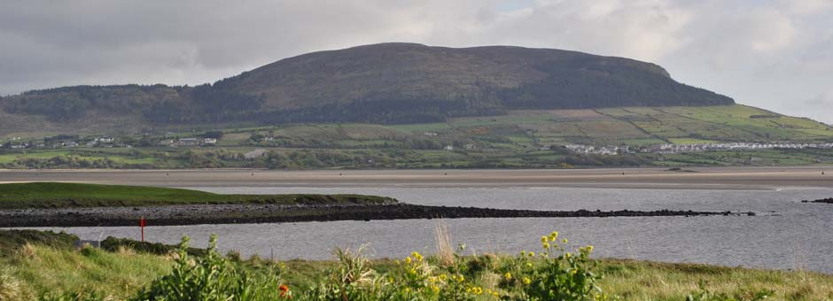 knocknare from rosses point beach